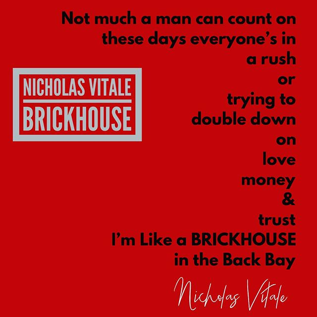 I'm Like A BRICKHOUSE in the Back Bay... BRICKHOUSE (Back Bay Remix) Pre-Release Listen On Soundcloud Link in Profile!!👀🍂🌾🌲 Streaming Everywhere Oct. 1st 🍁 #songlyrics #songwriter #love #money #trust #brickhouse  #boston ❤️ #backbay #deephouse #edm #techno #beats #brick  #stable #eduring #red #redsox #fenwaypark #hitsong #1 #eastcoastvibes #eastcoast  #austin #nashville #losangeles #writer #onegoodline #ilikethisone #bostonusa #soundcloud