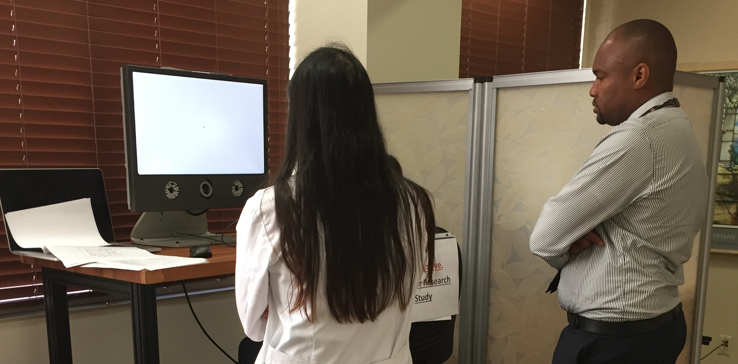 A new collaboration with Dr. Philip Okafor and Dr. Katherine Wong of Stanford Medicine has brought an exciting development to light:  signs of liver disease are measurable using eye movements .The project began with an organic discussion about an unmet need in hepatology to detect and measure signs of hepatic encephalopathy, brain pathology associated with liver disease.