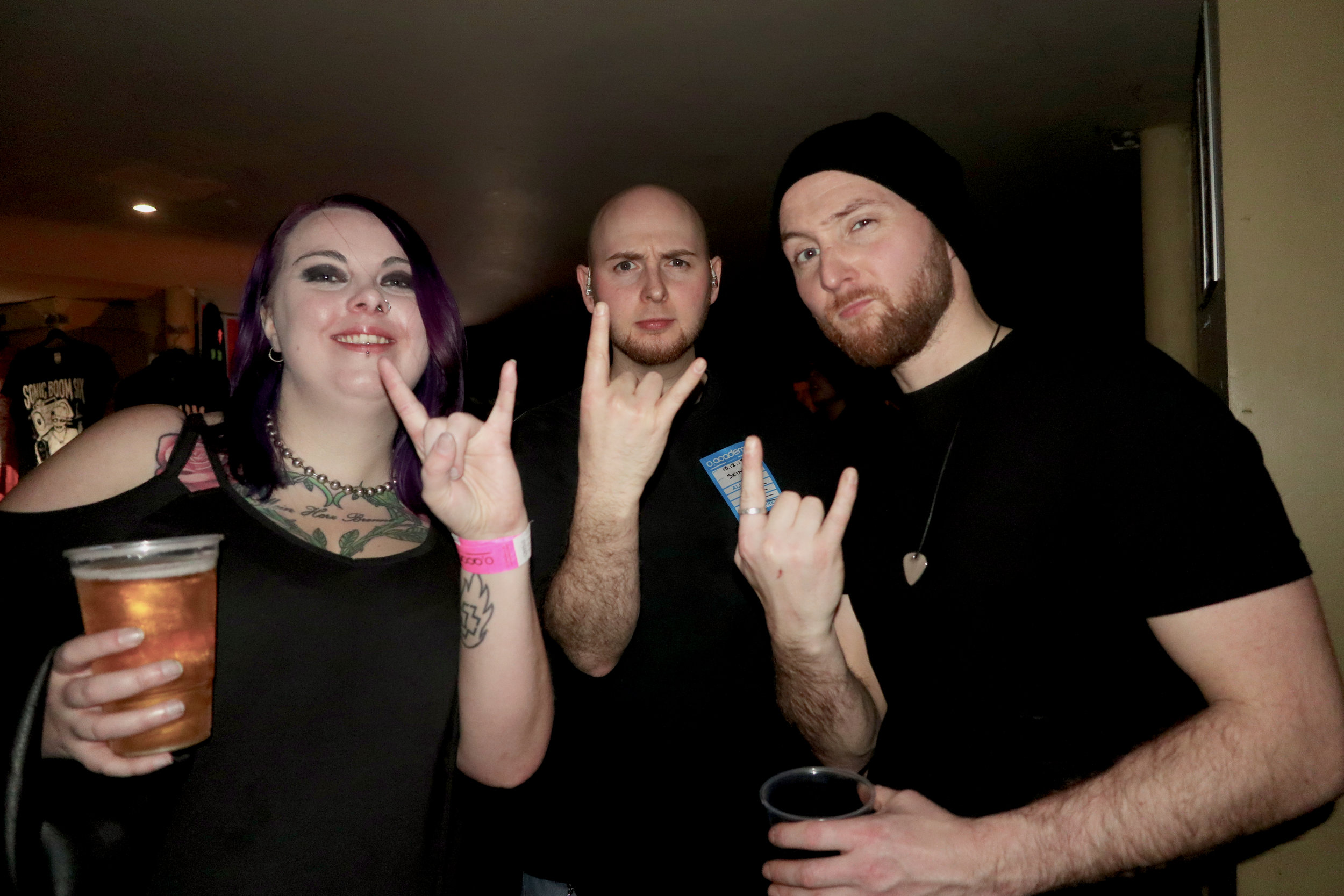 Andy and Stuart Barker of Liverpool's Prog Metal act Scare Tactics with ROCKFLESH interviewer Sarah Cummings.