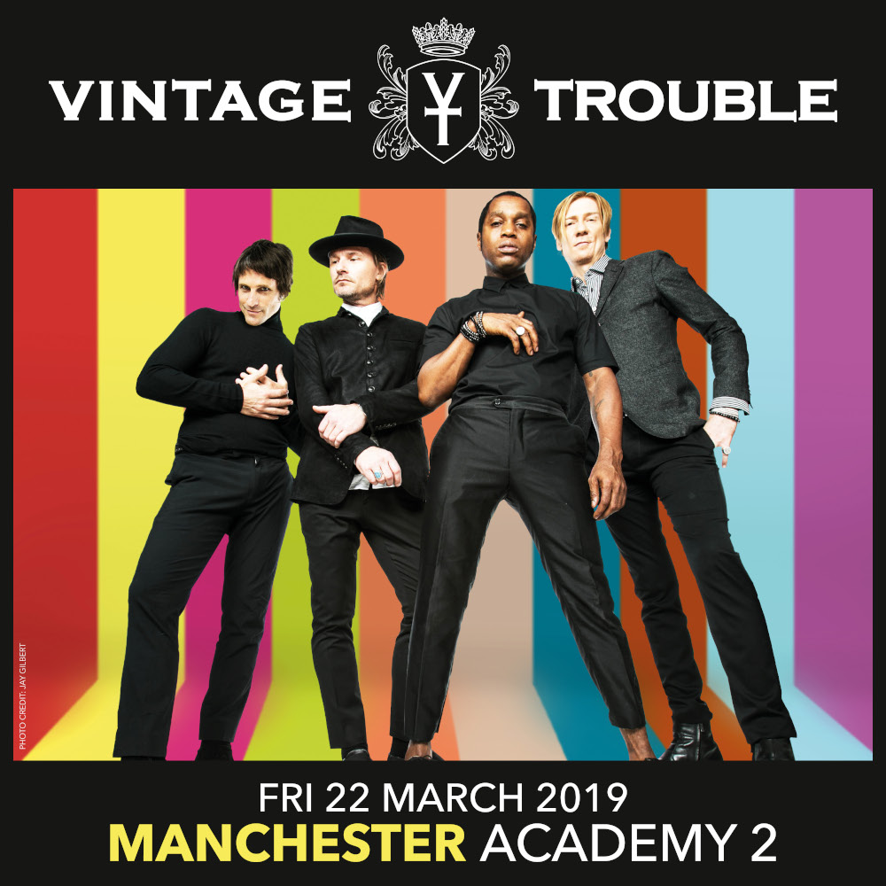 Vintage Trouble at the Manchester Academy 2 on March 22nd 2019