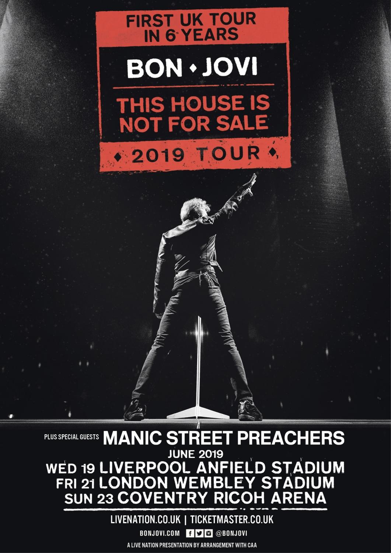 Bon Jovi UK Tour Dates Poster 2019
