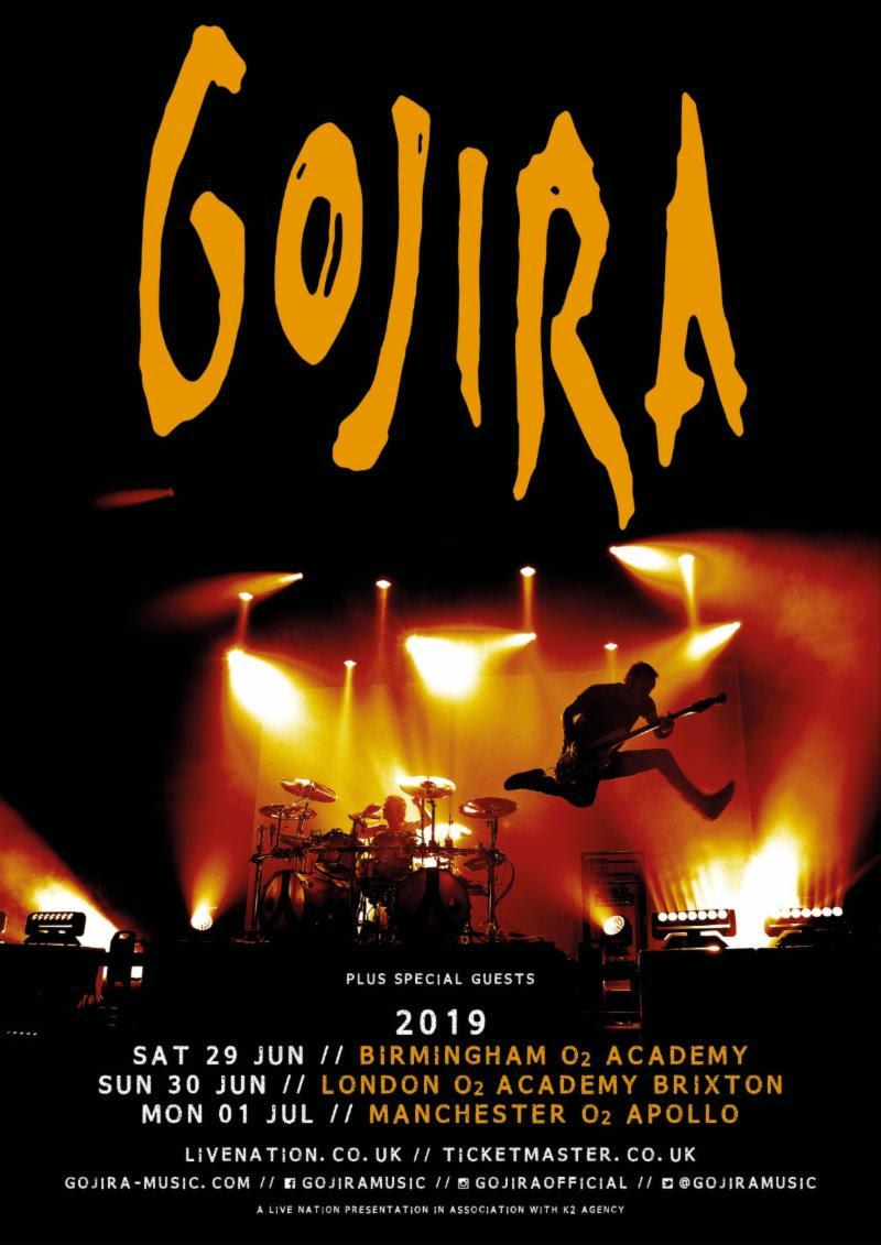 Gojira 2019 UK Tour Dates