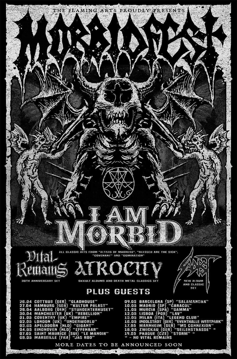 Morbidfest 2019 Tour Dates Poster