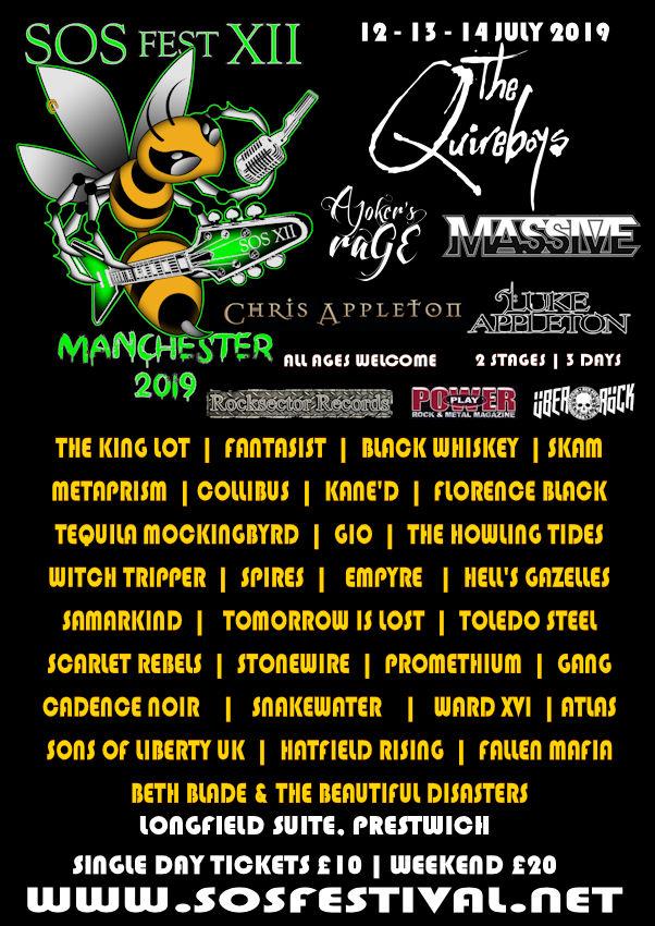 SOS Festival Poster 2019 Bill Bands