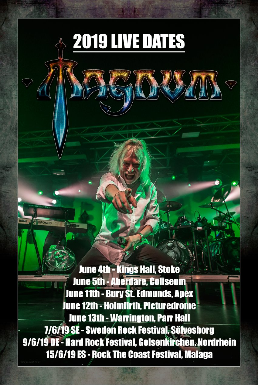 Magnum UK Tour Dates 2019 Poster
