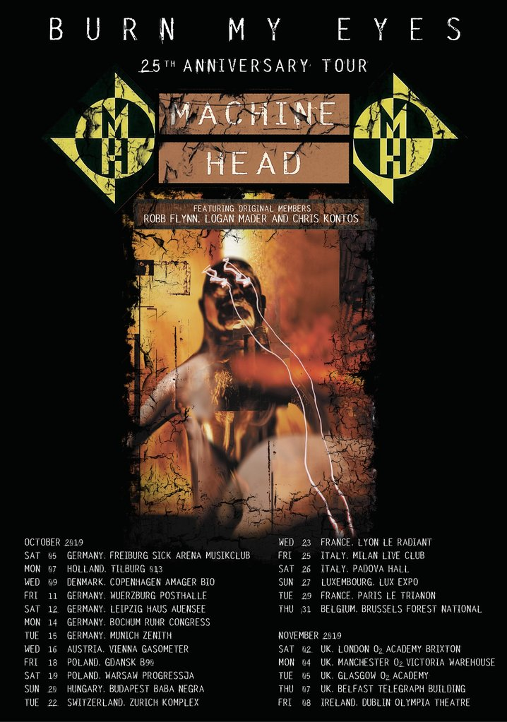Machine Head European Tour 2019