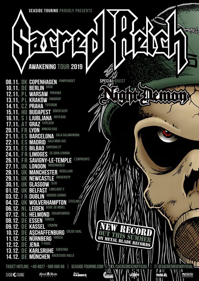 Sacred Reich European Tour Dates 2019