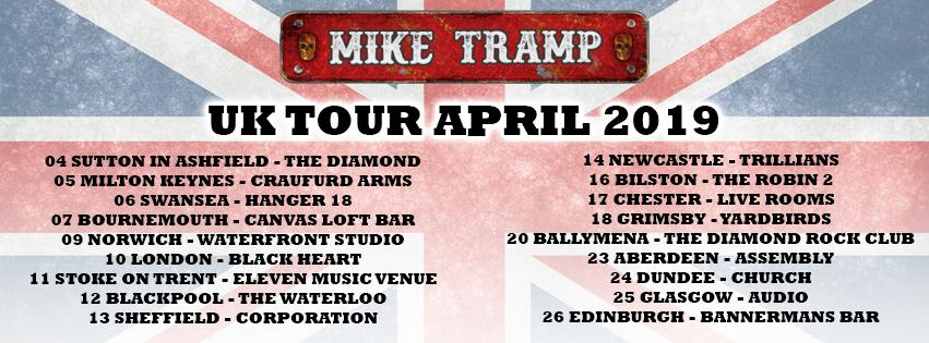 Mike Tramp UK Tour 2019