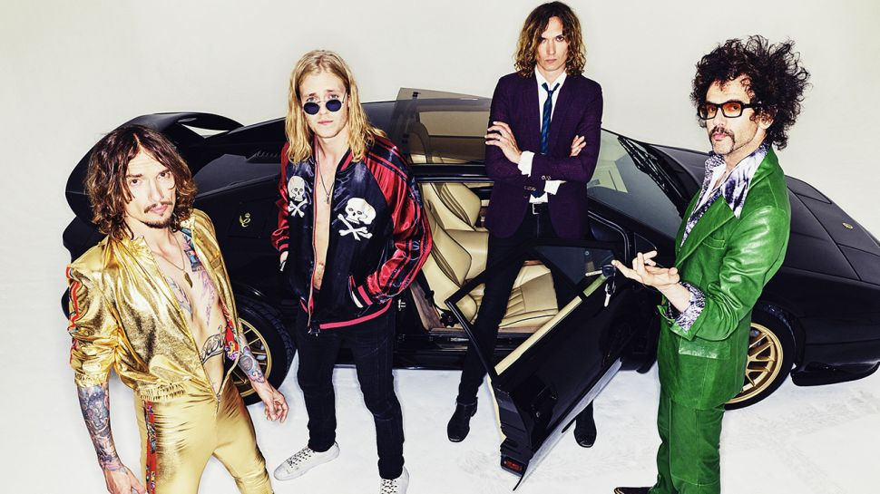 The Darkness promo shoot band 2019