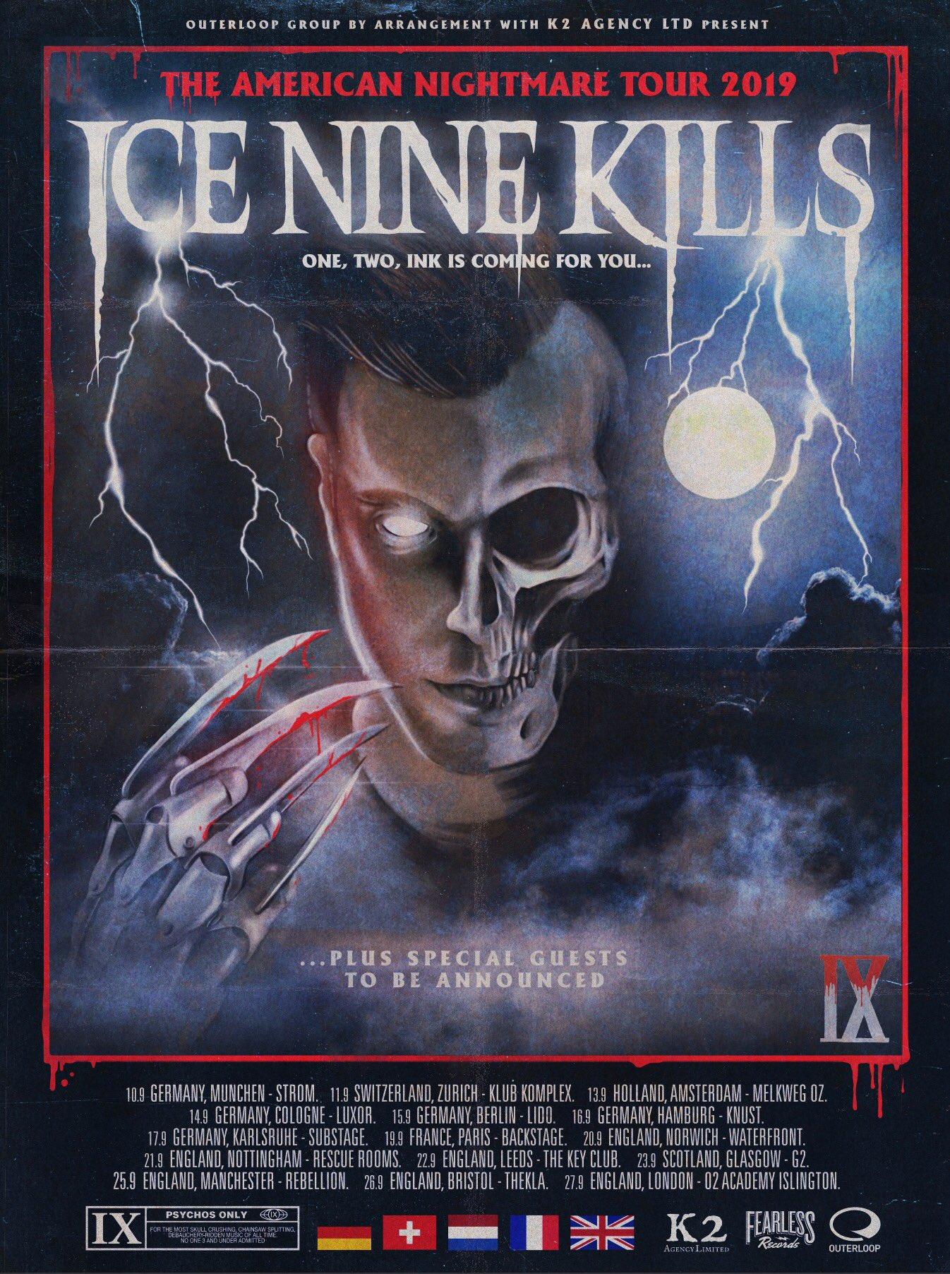 ice Nine Kills 2019 UK Tour Dates