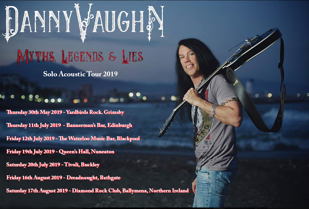 Danny Vaughn tour dates poster