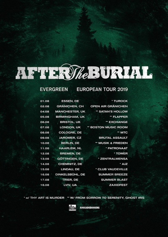 After The Burial Tour Dates 2019
