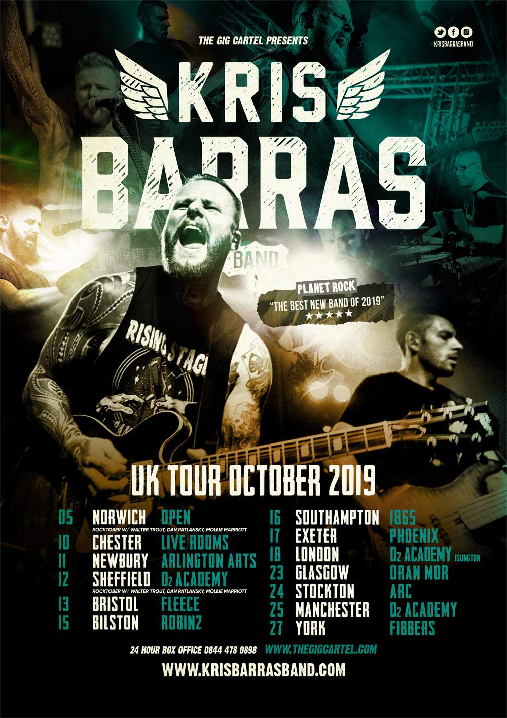 Kris Barras Band Tour Dates UK 2019