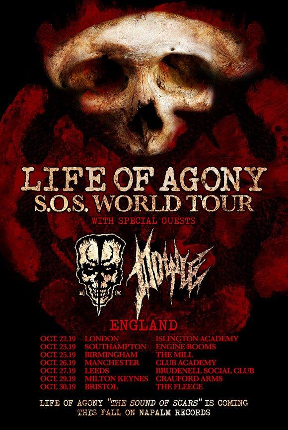 Lif Of Agony 2019 UK Tour Dates