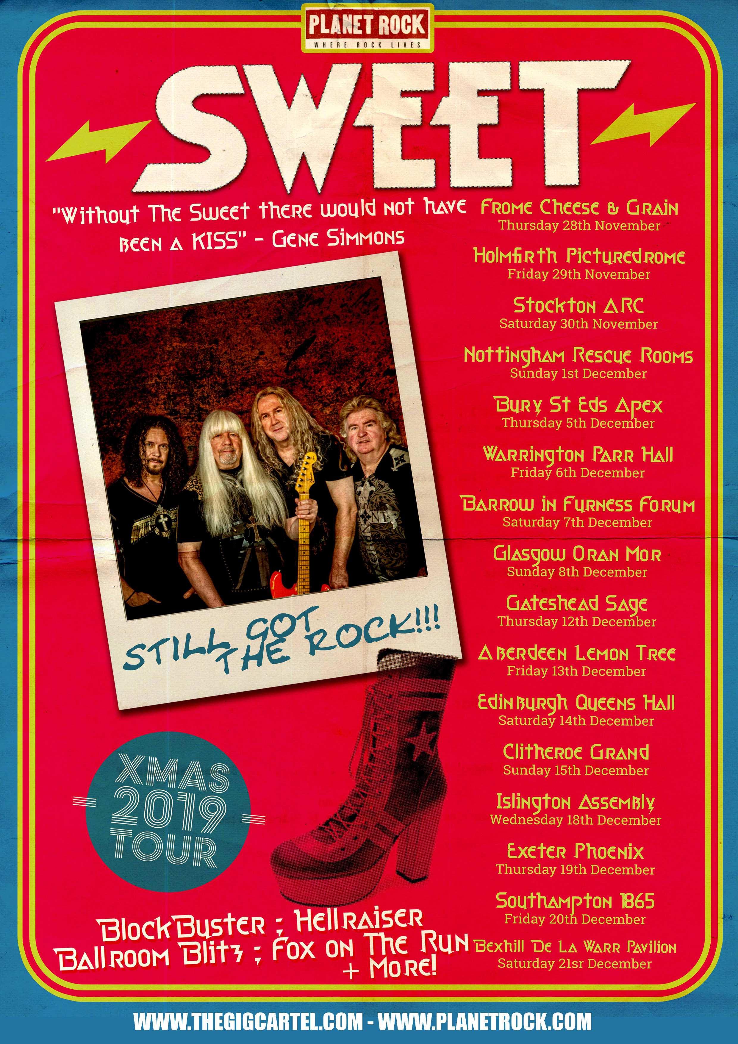 Sweet UK Tour Dates poster 2019