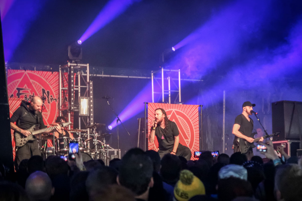 Twelve Foot Ninjas on the Dogtooth Stage at Download 2019