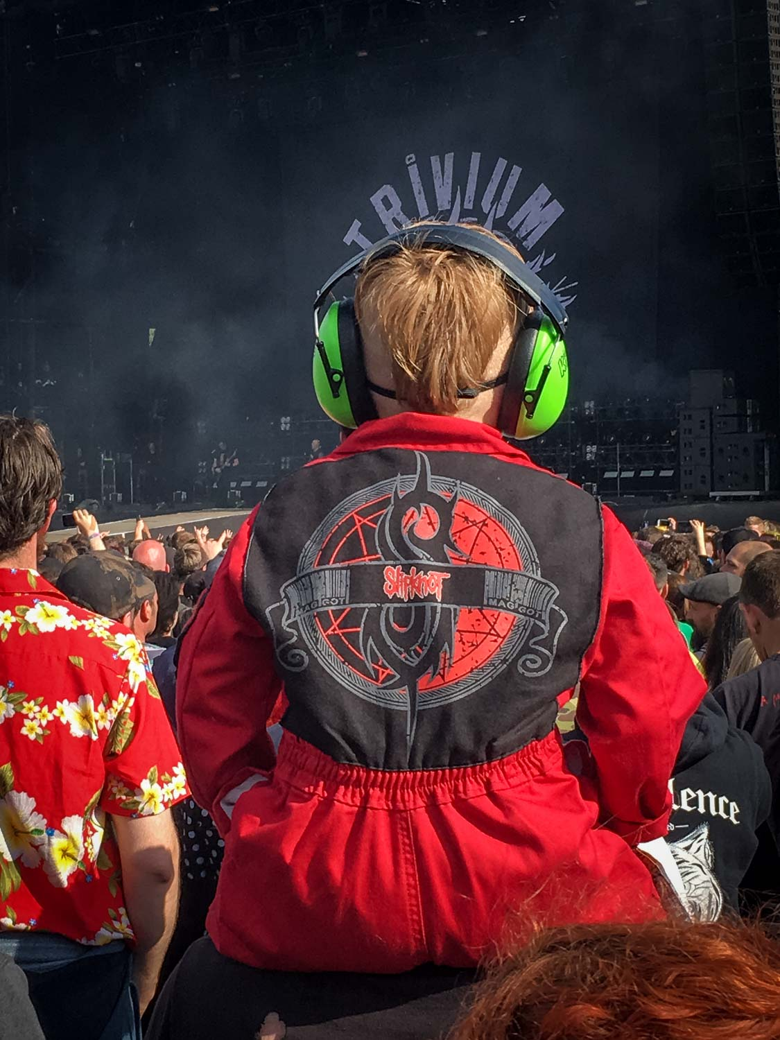 Probably the youngest fan of the festival