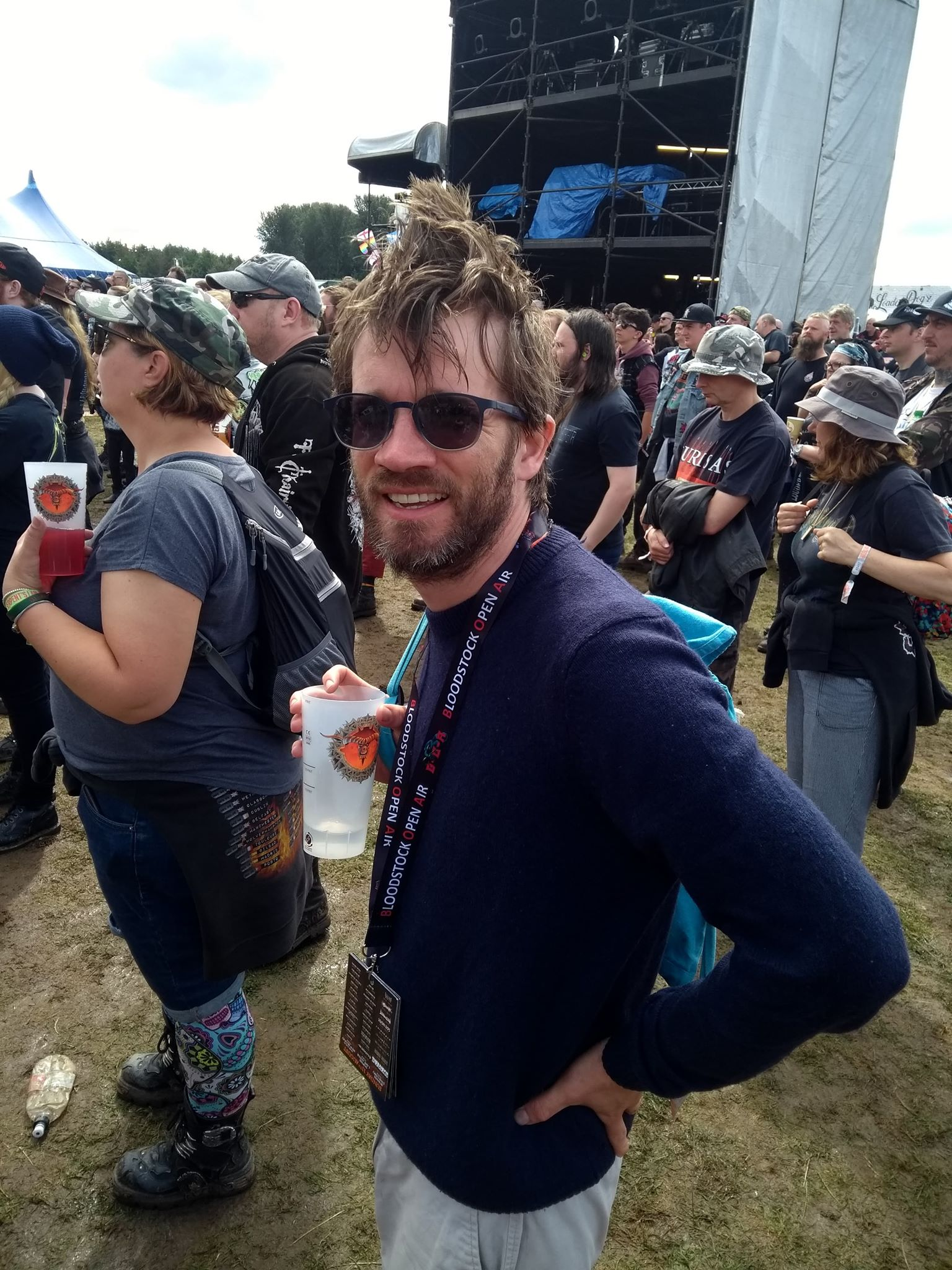 Chris Marshall soaking up the Bloodstock atmosphere.