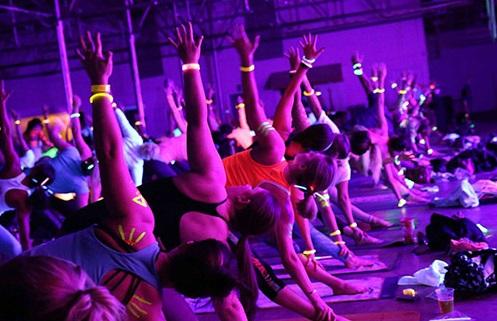 Glow Yoga (Photo Credits: The Straits Times)