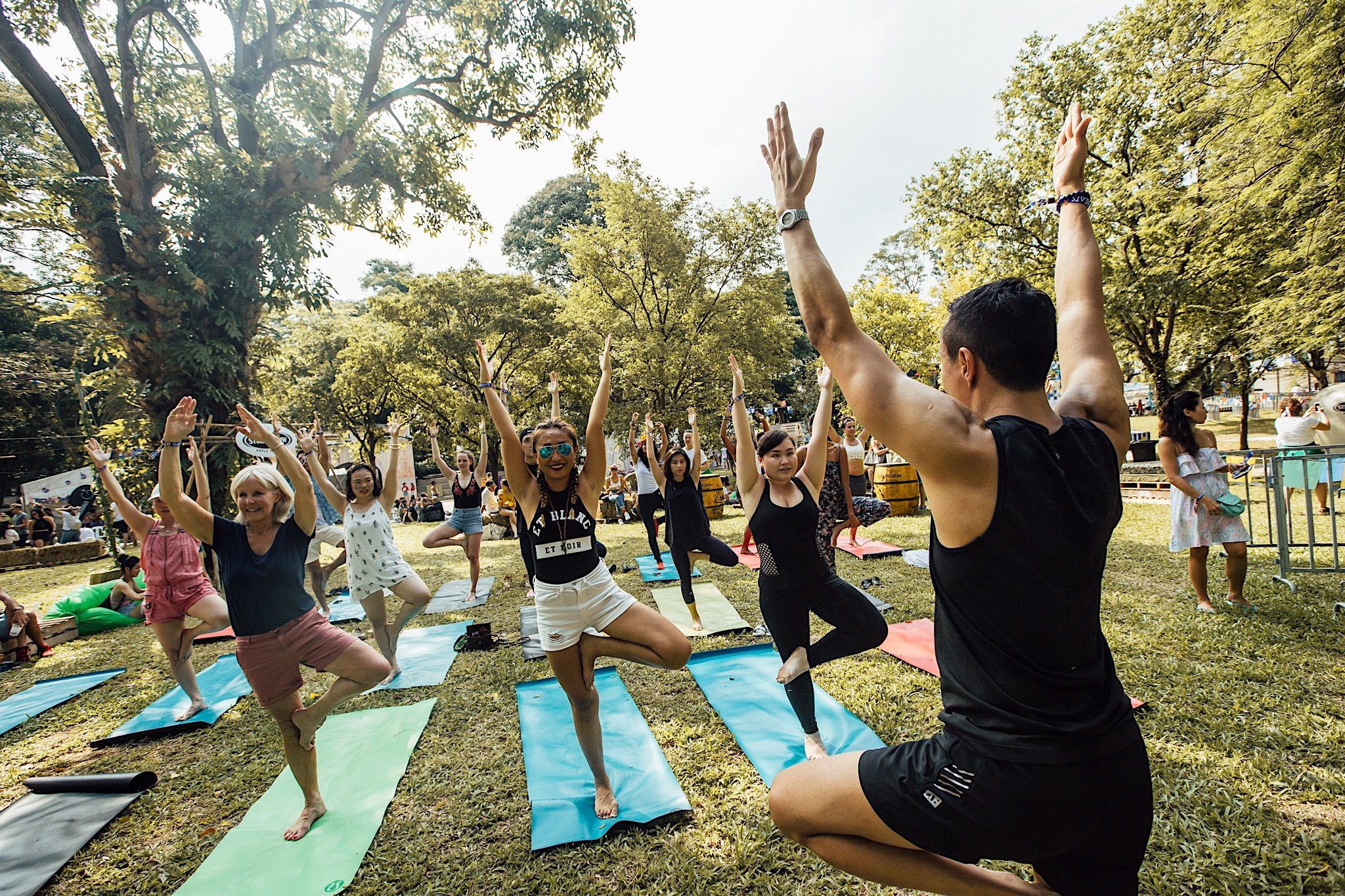 Yoga @ Garden Beats Festival in Fort Canning Park.   (Photo Credits: Colossal Photos.)