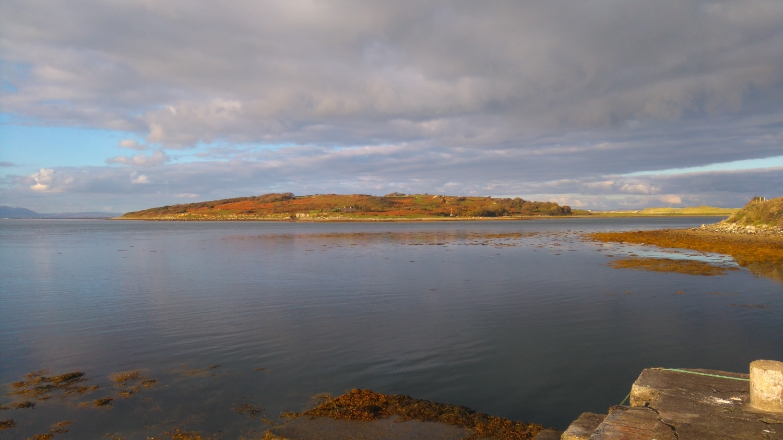 Dernish Island from the mainland at Milk Harbour County Sligo.