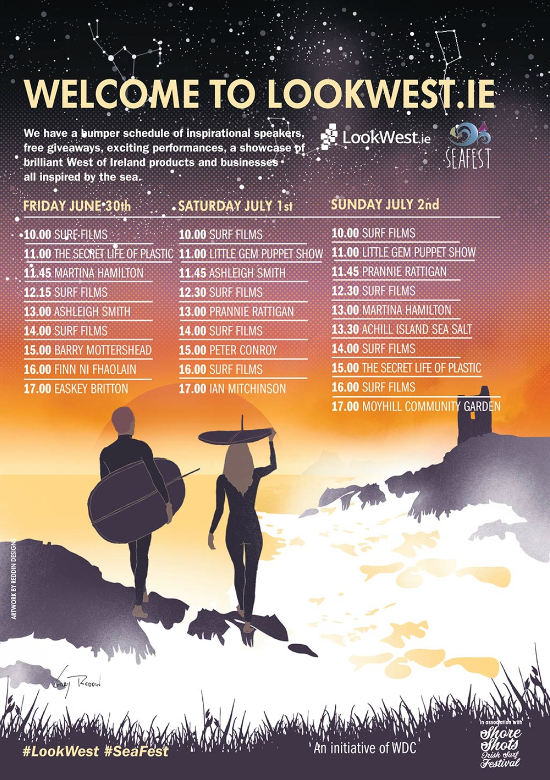 Look West schedule of events for Seafest 2017 in Galway.