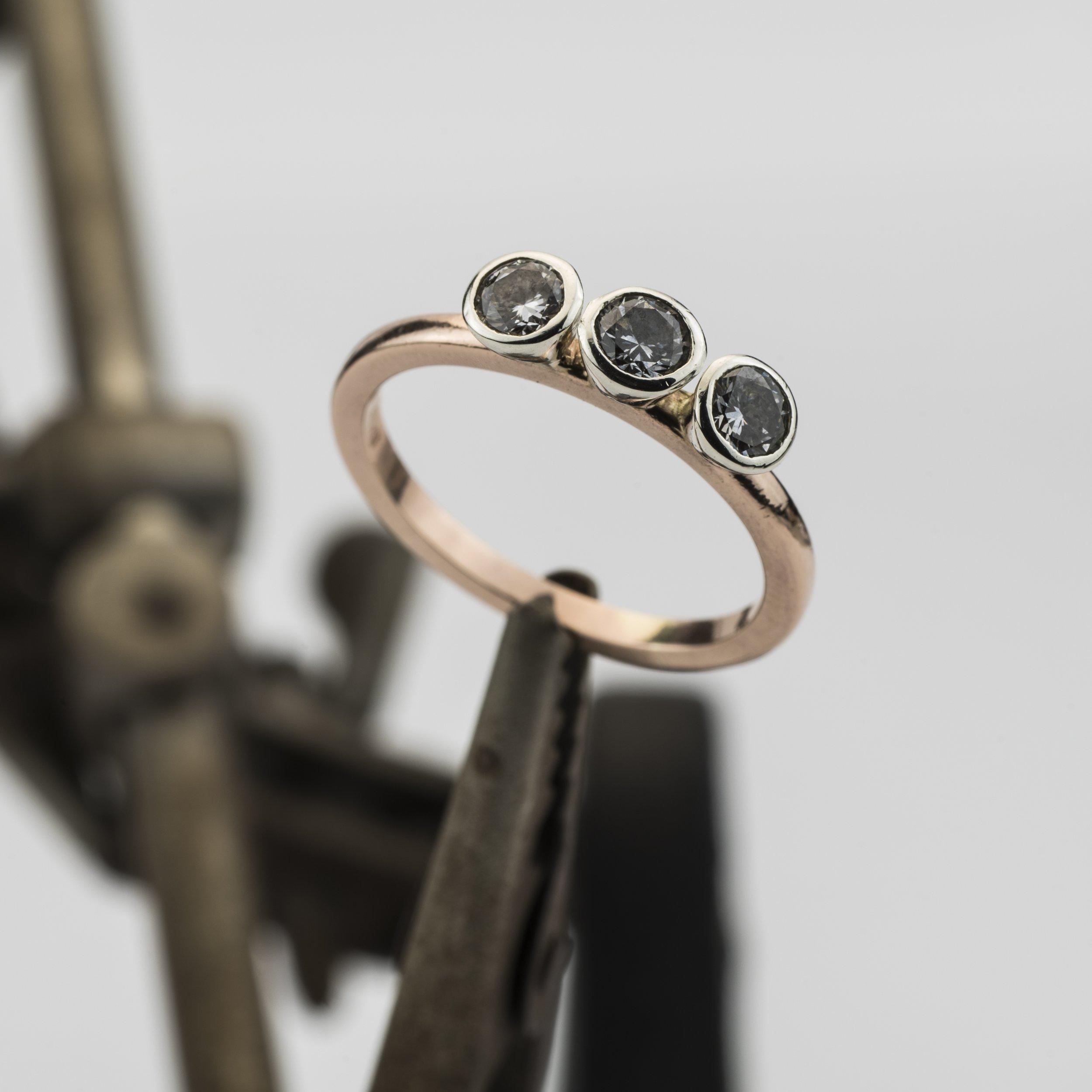 Rose Gold & Diamond Engagement ring