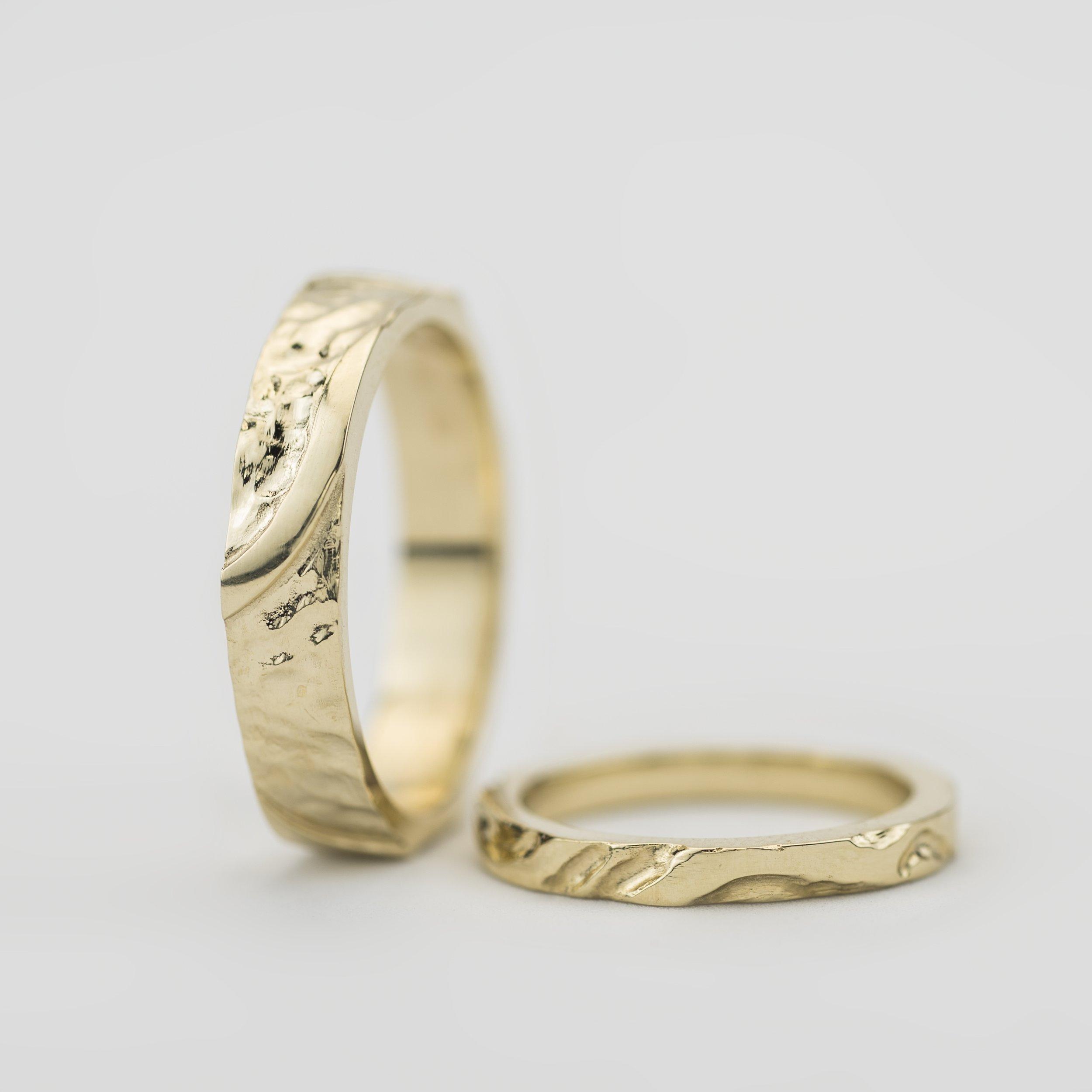 Soild gold hand made rings by Martina Hamilton