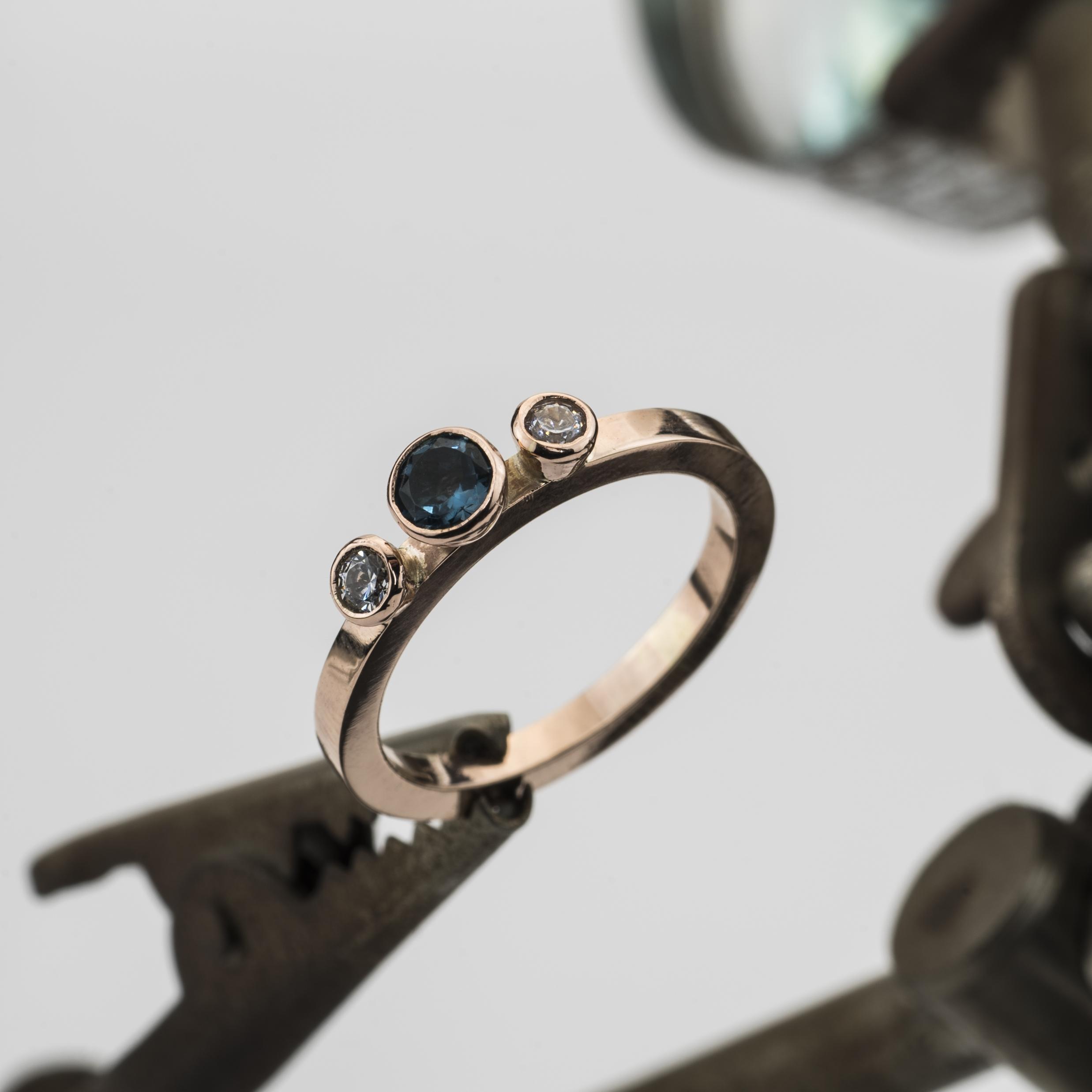 Rose Gold & Topaz dress ring