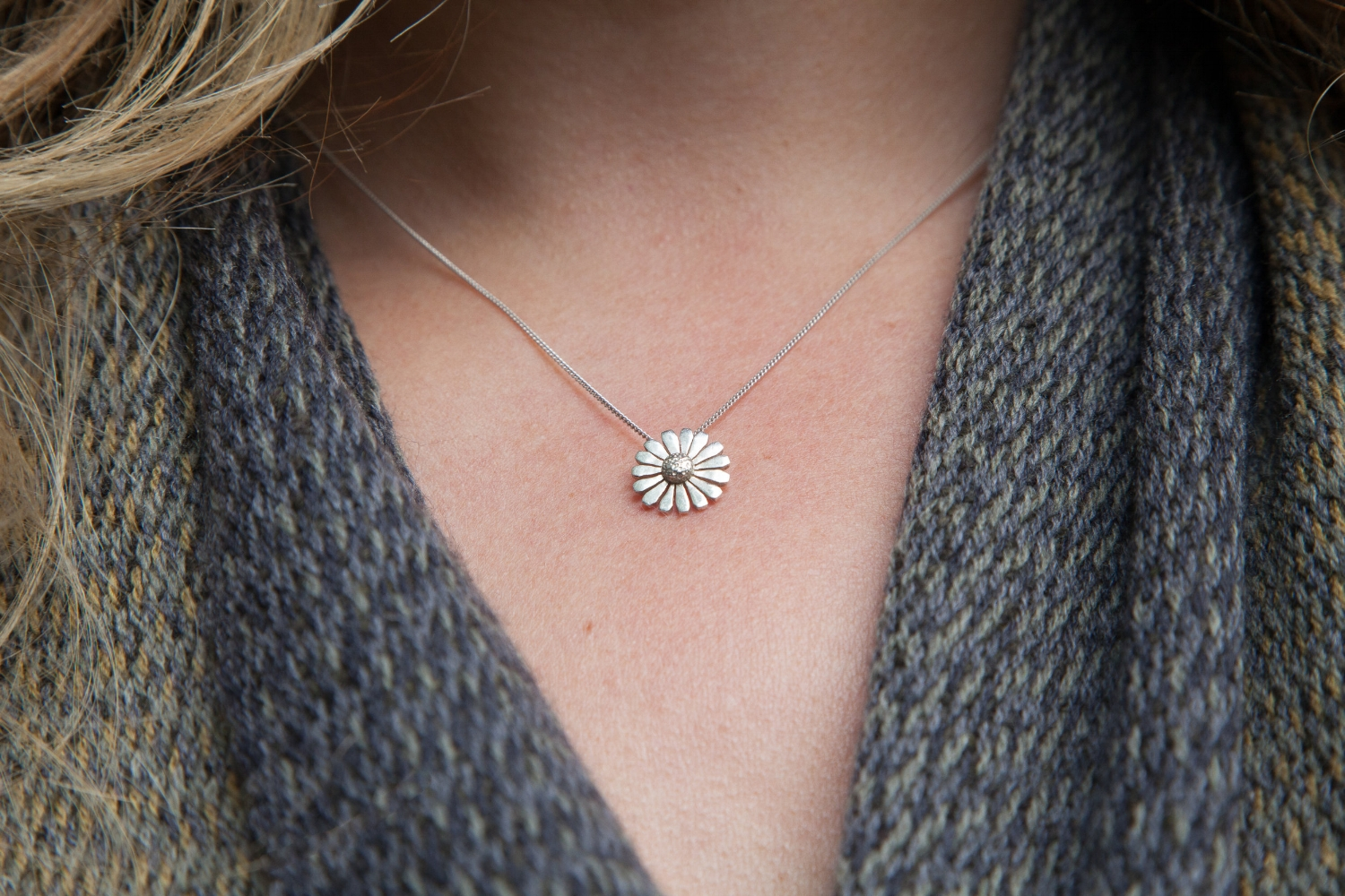 This Goal Daisy Pendant is made from hallmarked sterling silver. All proceeds from the sale of these pendants will go towards the   Goal What on Earth Campaign 2018.