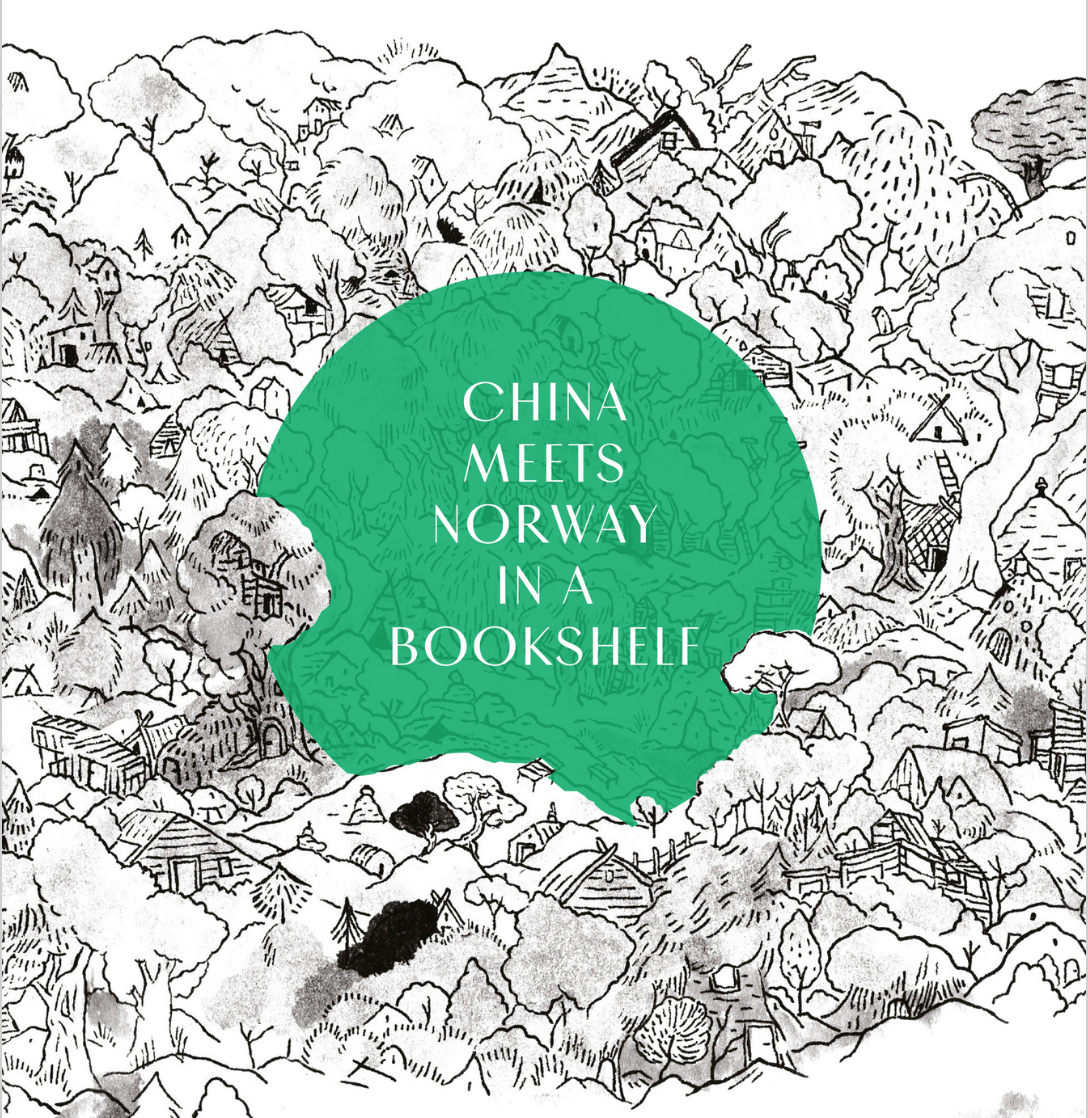 CHINA MEETS NORWAY IN A BOOKSHELF