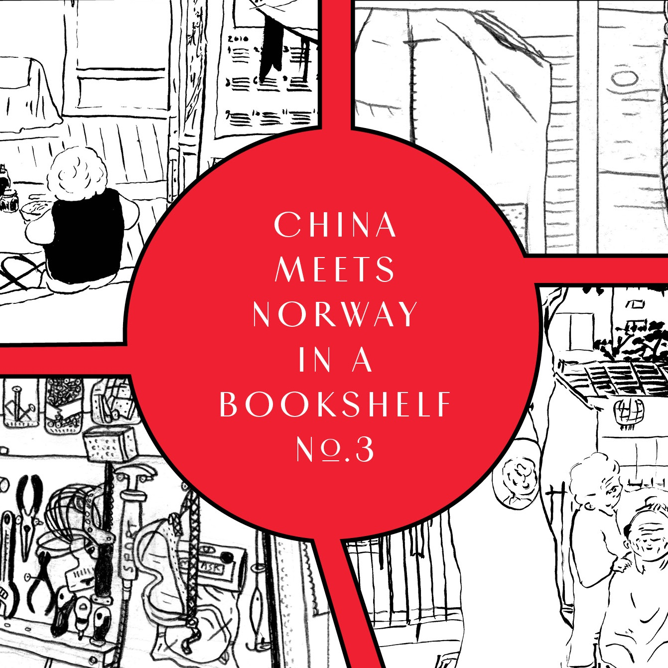 CHINA MEETS NORWAY IN A BOOKSHELF No.3