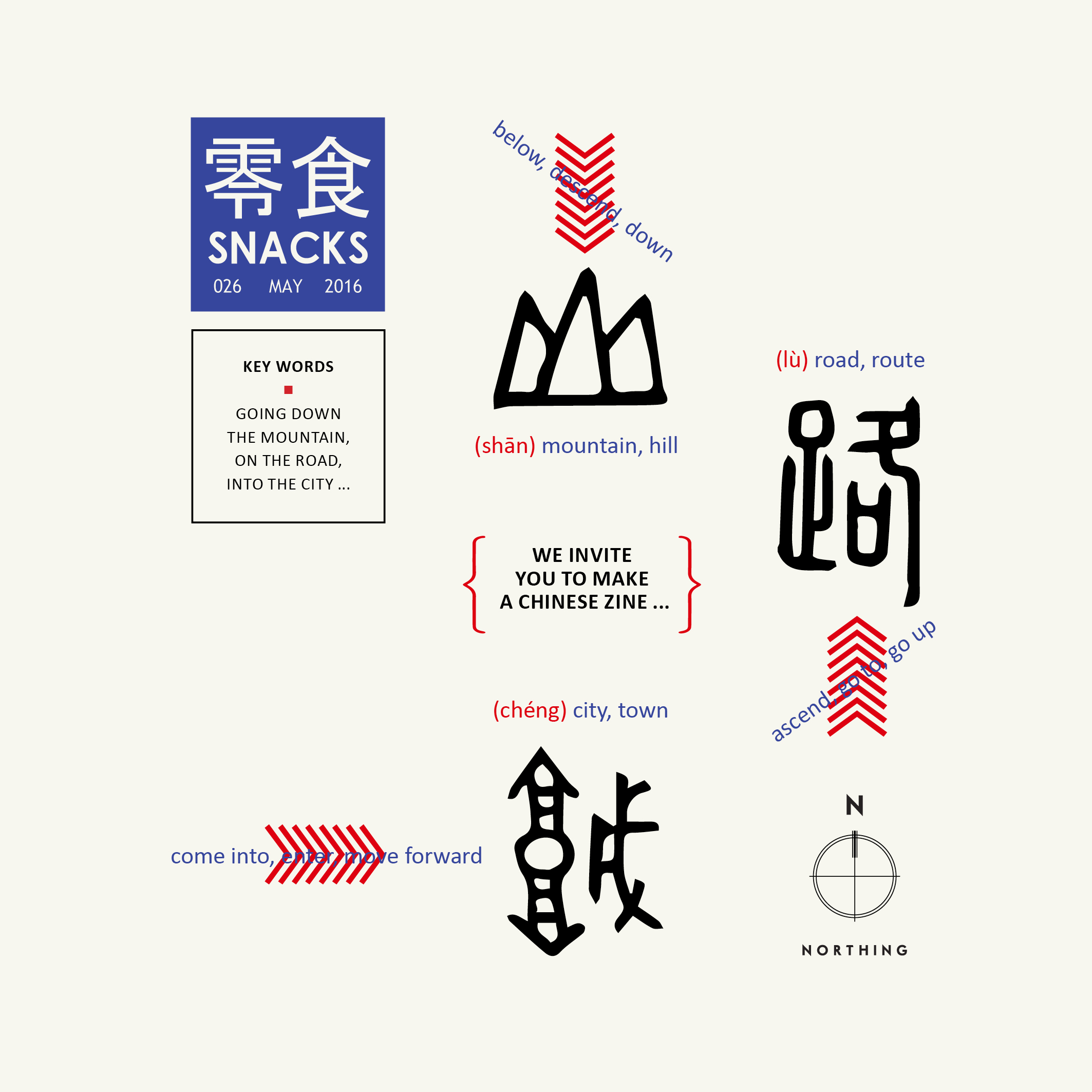 Snack is the supplement of   Art World   - the biggest and oldest art magazine in China It comes out four times a year with a more alternativ and liberated style. Each number invites one artist or designer to edit and design the whole magazine. Me and Yilei took the job to plan, edit and design the issue No. 26. It was the first time we work together on a project under the name of Northing. All artists featured in this magazine are somehow connected to Bergen. The making of this issue was also supported by Bergen Kommune.