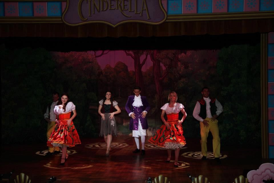 Captured during Pantomime 'Cinderella'. Bernadette on Stage Right.