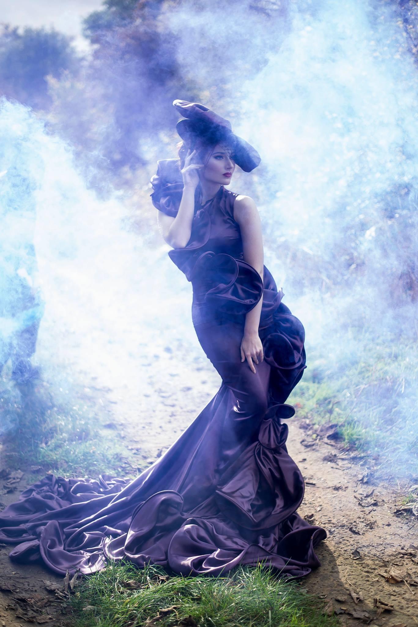 Photographer:  Liv Free   MUA & Hair:  Liv Free   Dress & Hat:  Katie Newsam