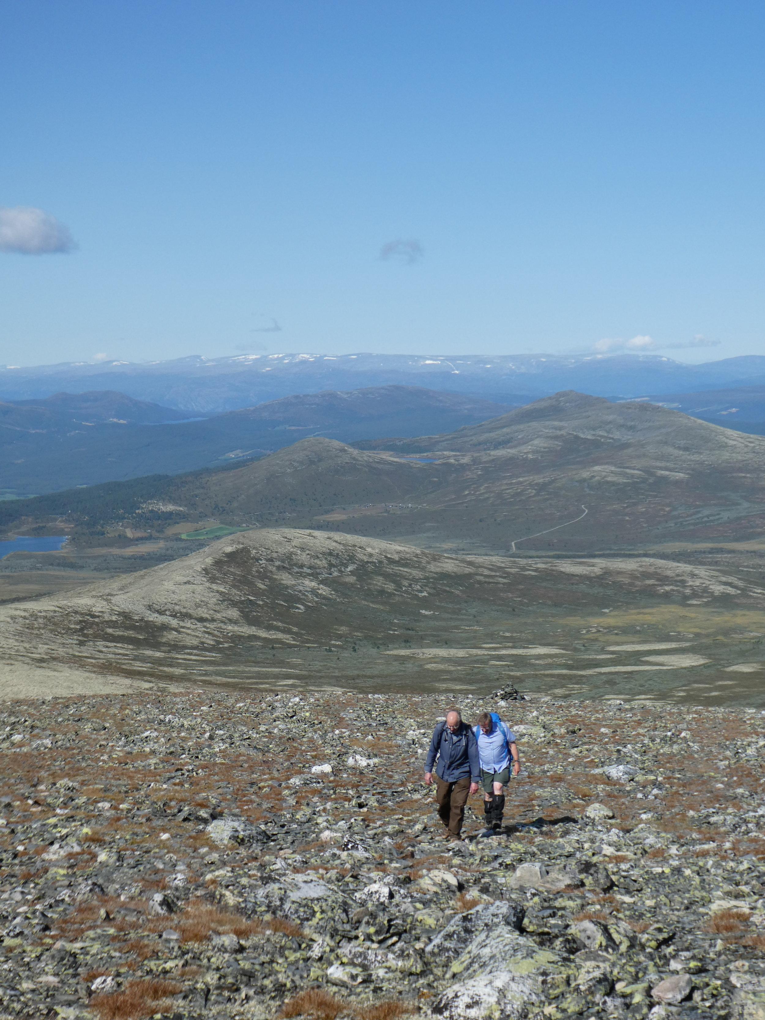 Vandretur til toppen av Heidalsmuen. Foto: Grethe Gillebo
