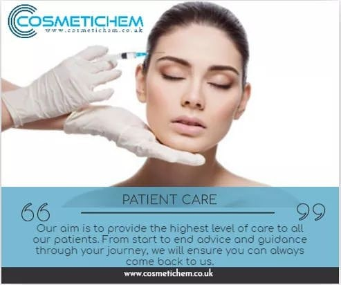 Our aim is to provide the highest level of care to all our patients. From start to end advice and guidance through your journey, we will ensure you can always come back to us. Book your appointment now. www.cosmetichem.co.uk. . . . #skincare #botoxtreatment #skinbotox #radiantskin #youthful #skincare #softskin #skincaretips #healthyskin #antiaging #facialtreatment #beautifulskin #Cosmetichem #filler #beauty #restylane #juvederm #dysport #clinic #skincare #allergan #collagen #antiaging #fillers #vshape  #lipenhancement #cosmetics