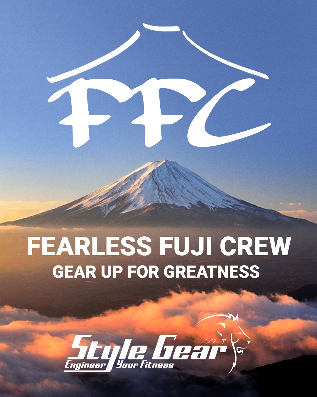 Fearless Fuji Crew - Gear up for Greatness - We are happy to announce that our head PT Mai Nomura has made a Japanese athletes crew called FFC - Gear up for greatness.Our next training session is 7th Oct 2:00-3:30pm.Spots are almost fully booked! So book now and come join our crew* Join us if you are; • Training on a regular basis or have a sports background and are willing to improve your performance and skills.• Highly motivated with a strong mindset, who wants to stick with an active lifestyle for the long term.• Wanting to be a part of high quality gym crew, with a great atmosphere.We train with a purpose. We help each other. We shift gears to improve our quality of life. Contact Mai for further information.*We require that all trainees must have training experience, or at least some background in sports.