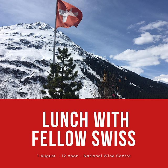 It's a special day 1st August and what a nice treat to head out for midday lunch. Book your place at the table via swissclubofsa@gmail.com  All details our website www.swissclubsa.com.au/swiss-national-day