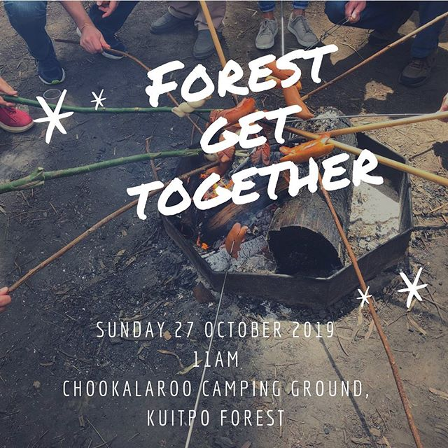 Forest Get Together An enchanting day amongst the deep forest of Kuitpo South Australia.  When: Sunday 27 October 2019  Time: 11am  Where: Chookalaroo Camping Ground, Kuitpo Forest (keep an eye out for the Swiss flags)  What: bring a picnic chair and your own drinks. Sausages and bread rolls will be available to purchase. A cake or salad to share is encouraged. We encourage you to bring your own cutlery, glassware and crockery to reduce waste.  In case there is a total fire ban and Kuitpo Forest closed, we will be at Meadows Recreation Park.