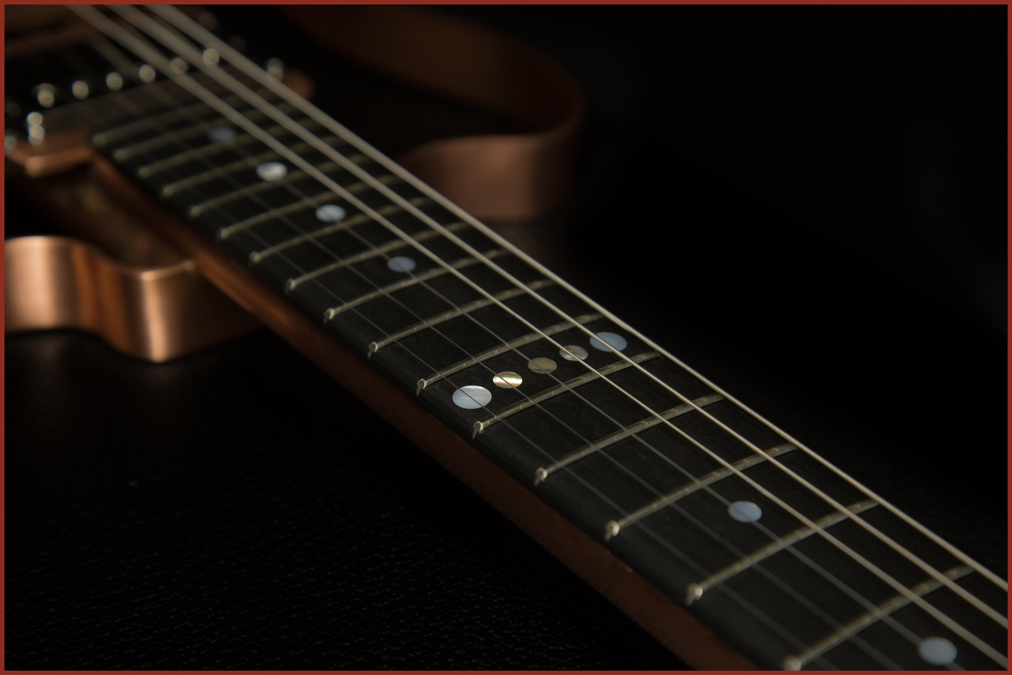 Eco-friendly - Absolutely no wood! Each guitar features a hand made copper body and a Richlite fiber composite fretboard.