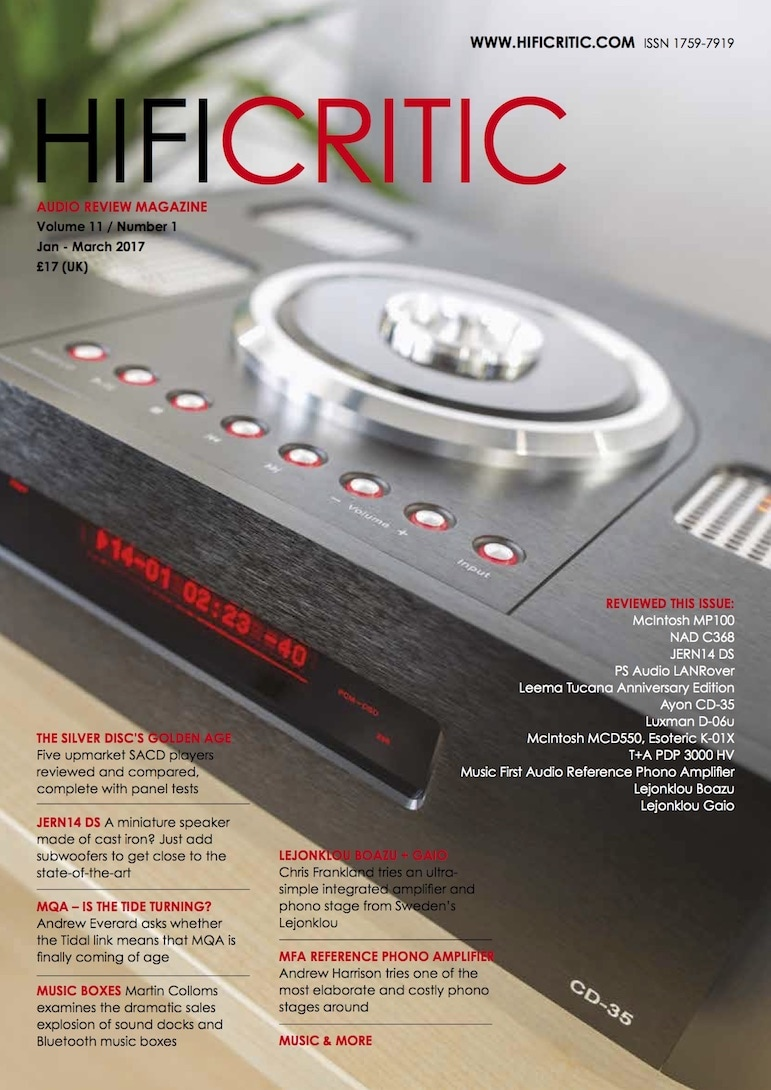 CD-35 - HIFI CRITIC RECOMMENDED (Photo by Carlo Marengo)