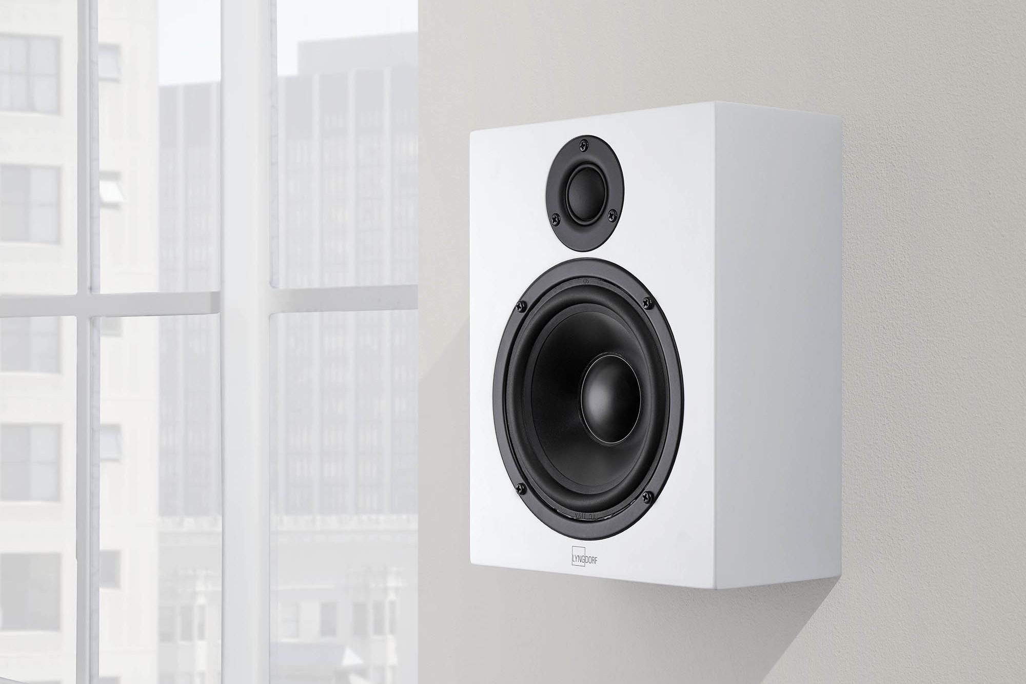 MH-2 Satellite Speaker, available in Gloss Black or Matt White, stand, furniture or wall mounted
