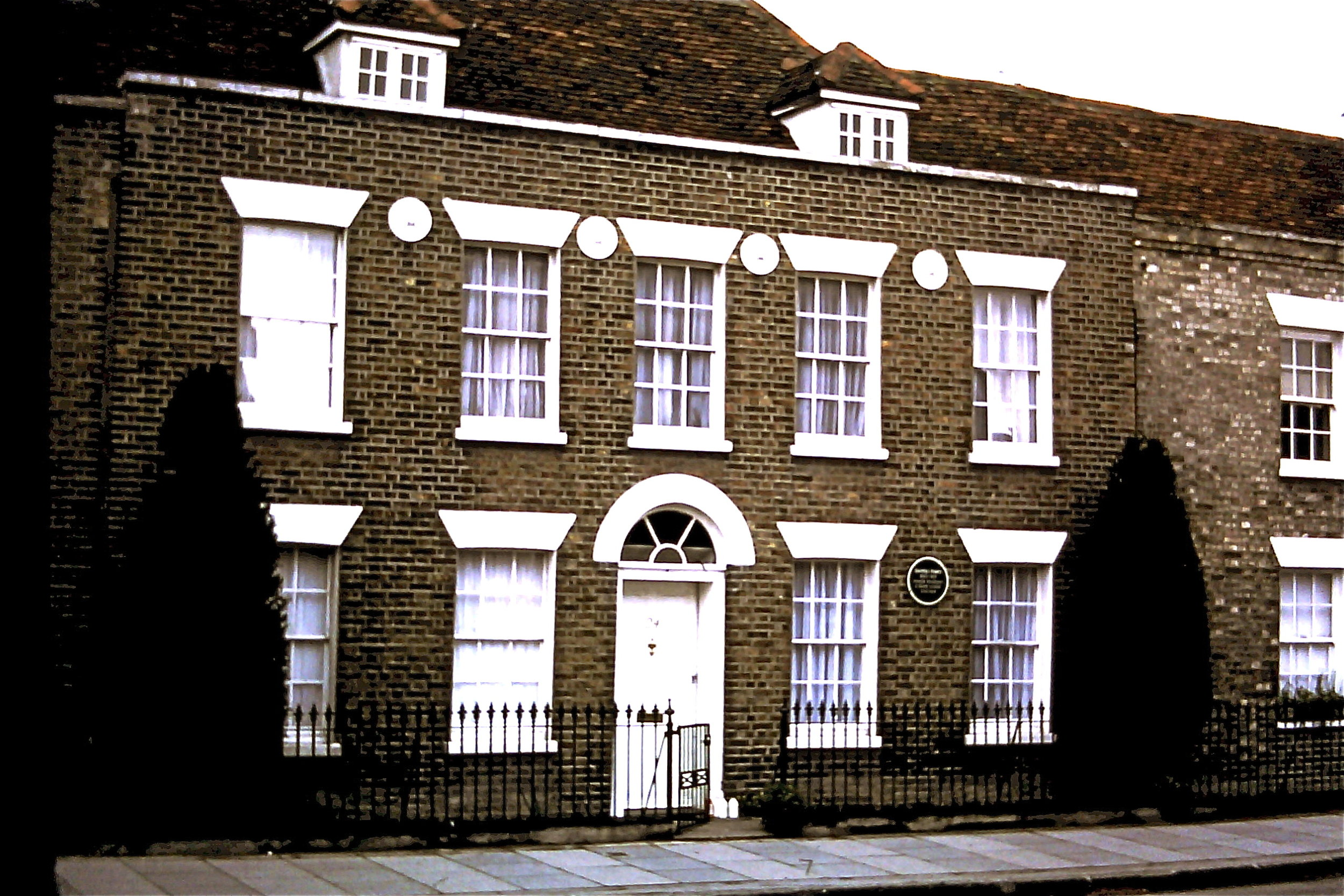 Sayers' house in Newland St, Witham, 1980
