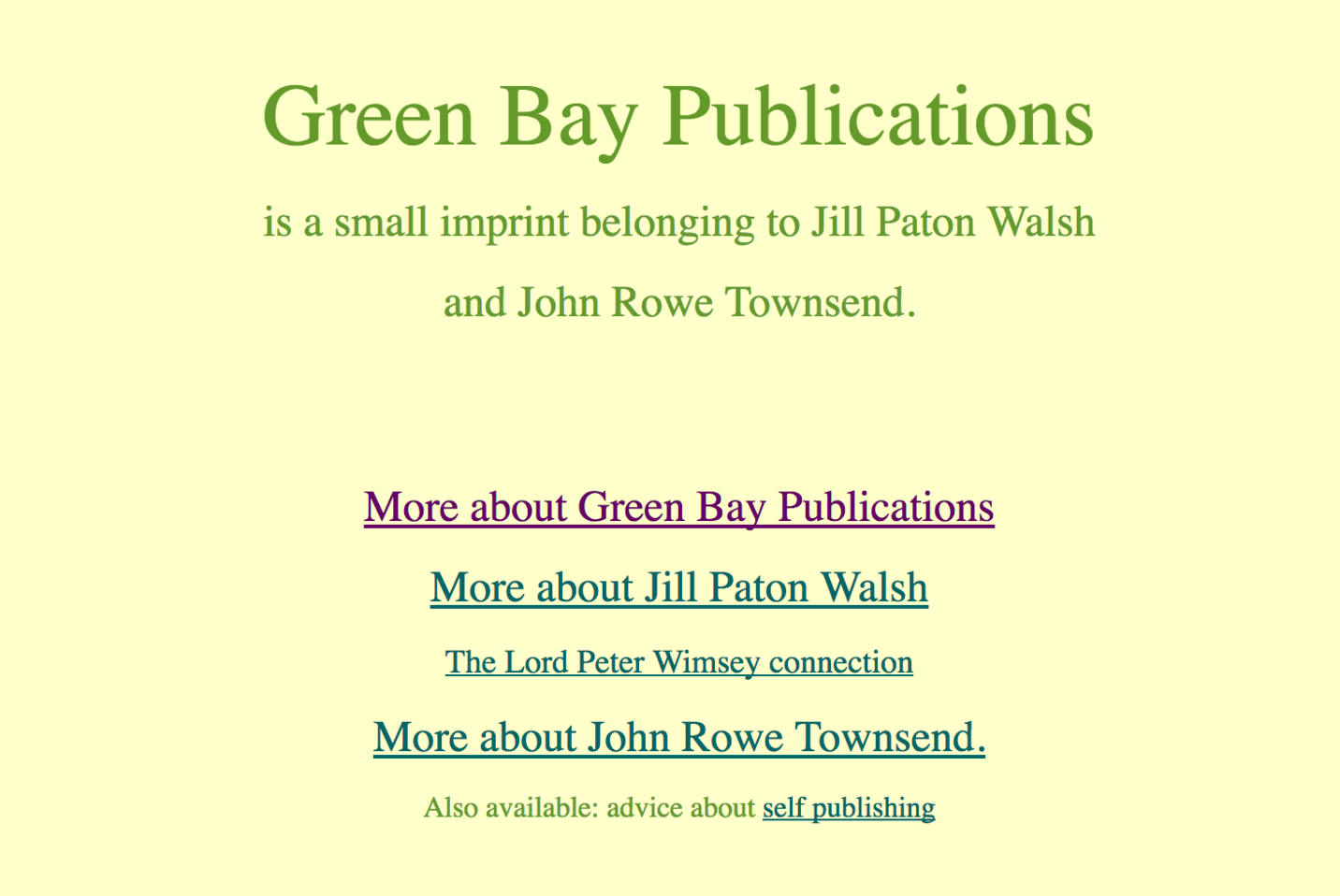 Jill Paton Walsh's home site, including of course a page about  Thrones, Dominations .