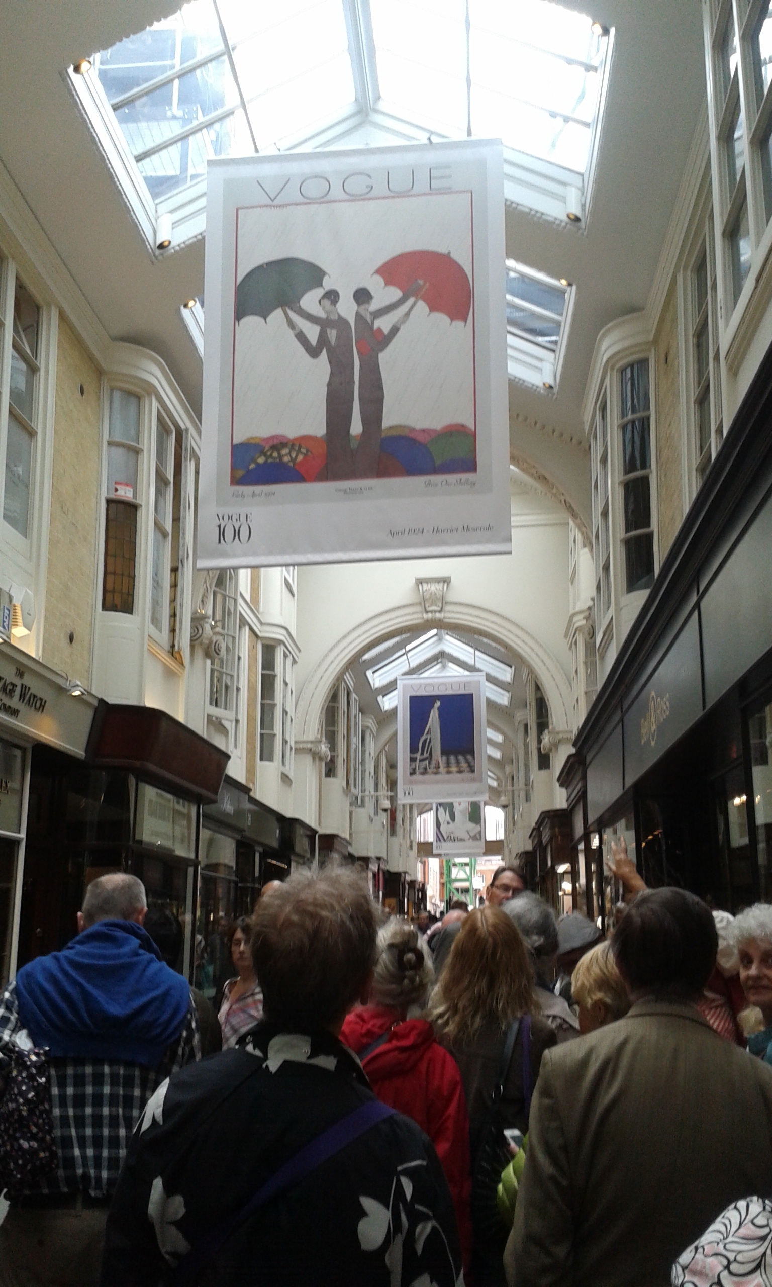 July 2015 London Walk Burlington Arcade Vogue Cover Exhibition.jpg