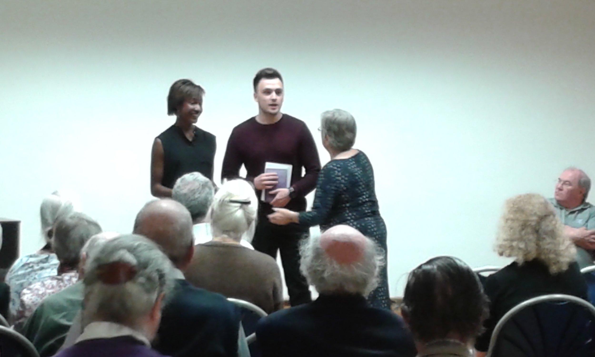 Kimisha Lewis and Sam Kacher - The Dorothy L. Sayers Actors' Award Winners