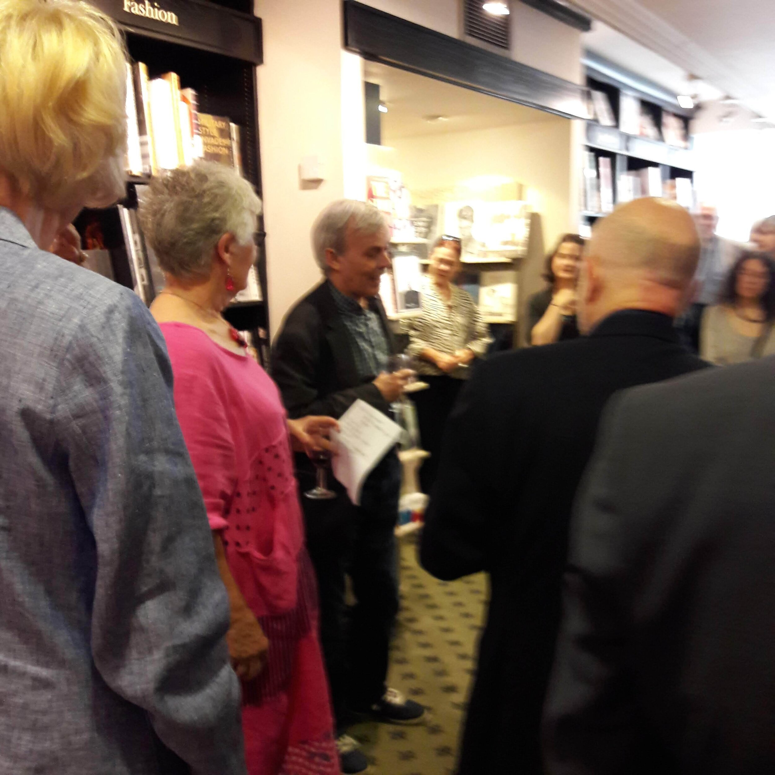 Martin Edwards at the launch of Taking Detective Stories Seriously, Hatchards Bookshop, London