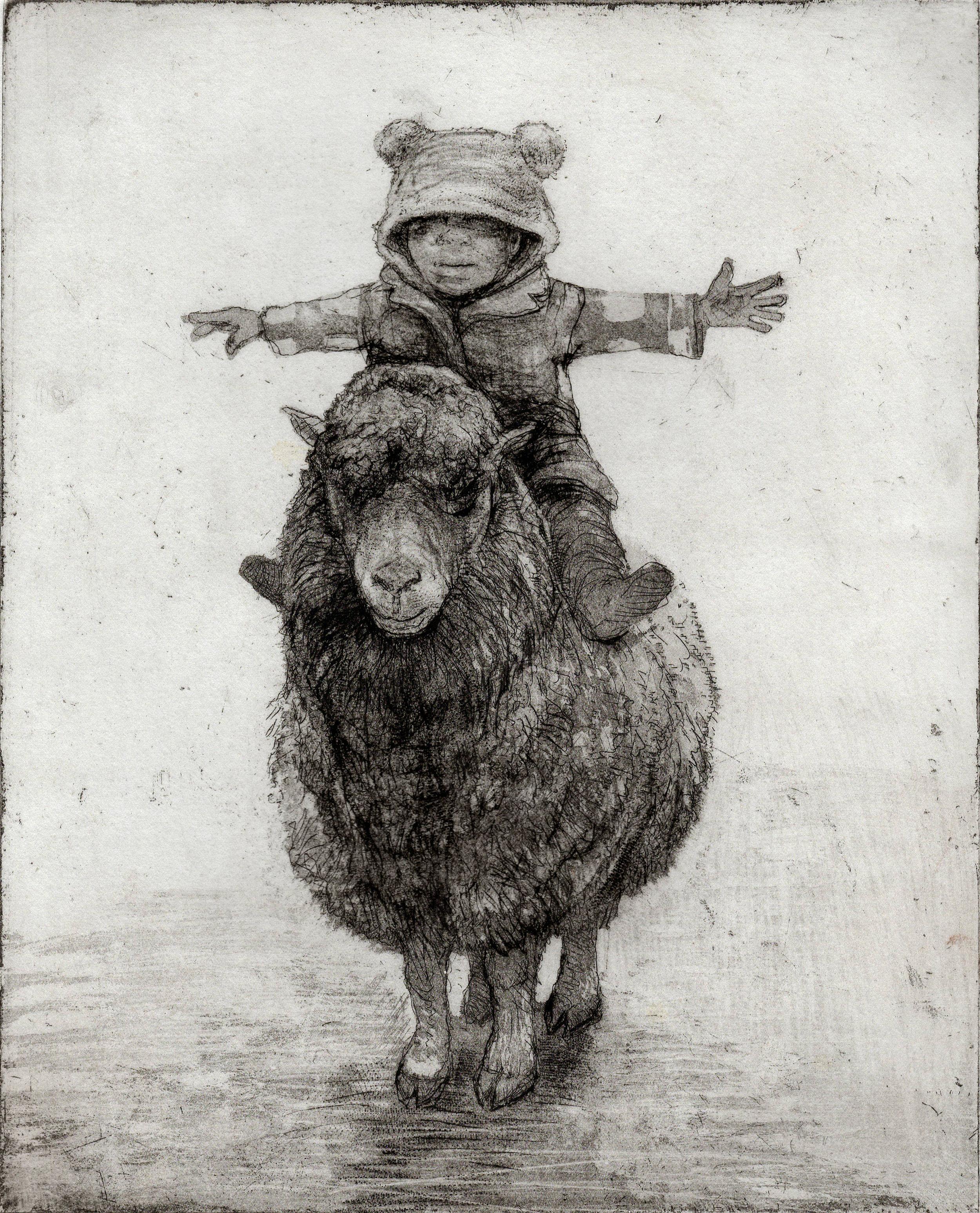 Rider, Etching