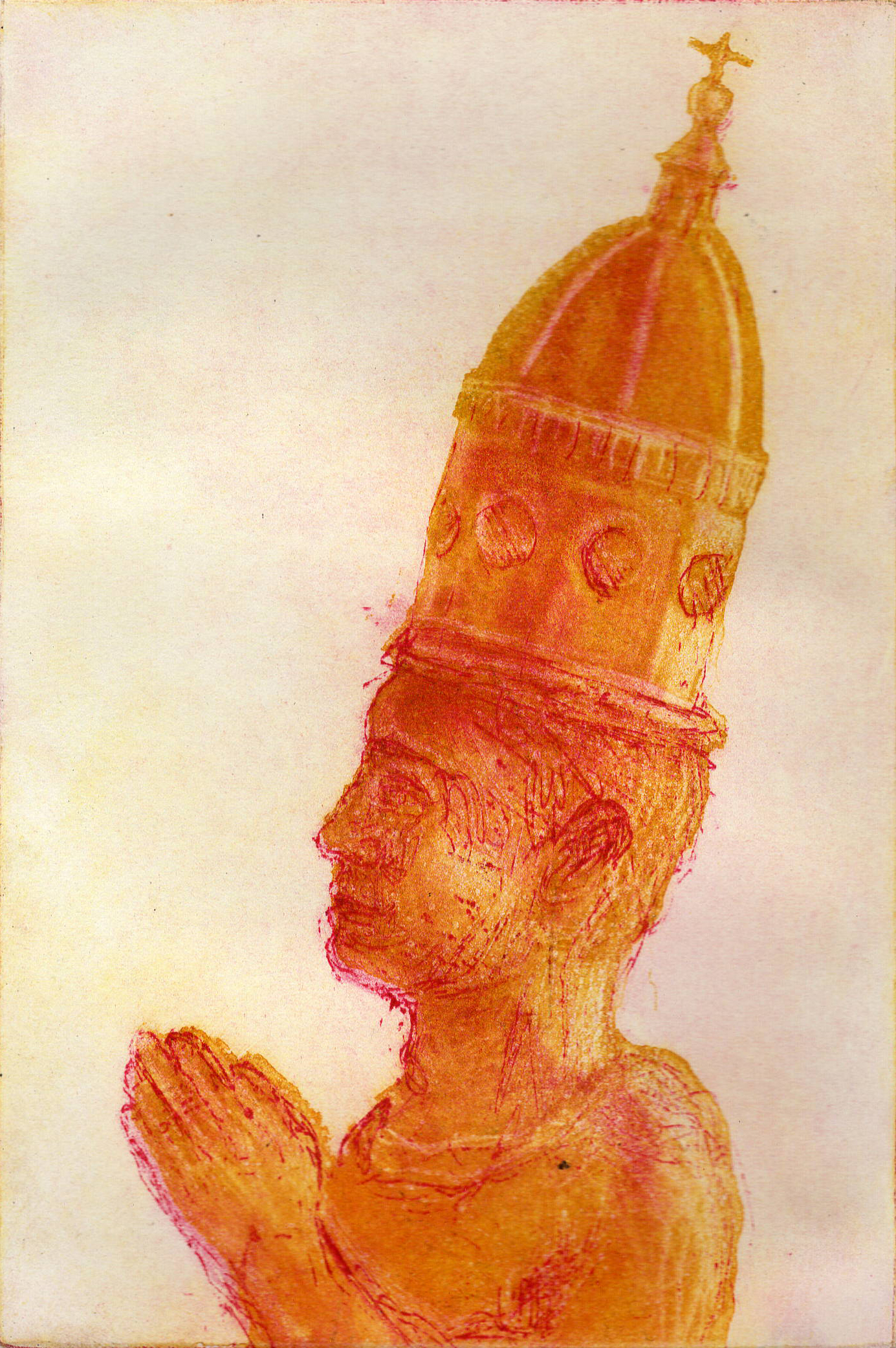 Dome Head, Coloured Etching